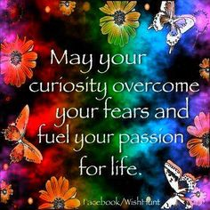 May your curiosity overcome..