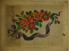Hand colored Victorian designs von H.F.Müller Wien, Berlin woolwork pattern | eBay