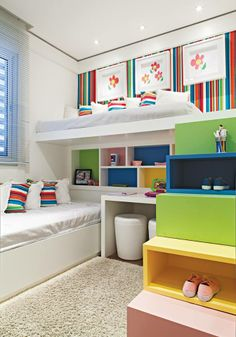 Love this!!! May try to replicate in the twins' room... :: Decorar Mais Por Menos