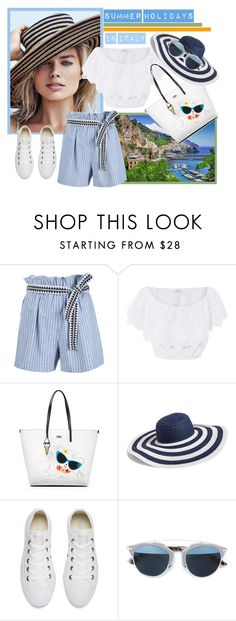 """""""Catching the Last August Days in Italy"""" by elena-viola-1 ❤ liked on Polyvore featuring Lemlem, Miguelina, Karl Lagerfeld, Vera Bradley, Converse and Christian Dior"""