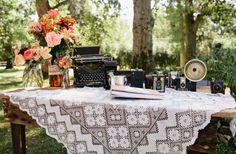 How about combining vintage lace and photography? Seems like a natural pair to me :)