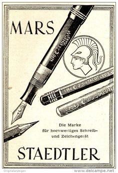 Original-Werbung/ Anzeige 1951 - MARS STAEDTLER FEDERHALTER / BLEISTIFTE - ca. 60 x 90 mm