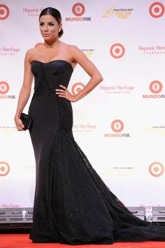 Fabulously Spotted: Eva Longoria Wearing Versace - 26th Annual Hispanic Heritage Awards - http://www.becauseiamfabulous.com/2013/09/eva-longoria-wearing-versace-26th-annual-hispanic-heritage-awards/
