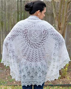 SupaSteph Pi shawl, Leaves of Spring