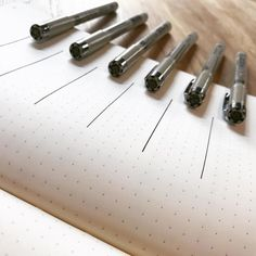 Got #fineliners? Checking out the small variations from a 0.05 to an 08 tip #micron #pigma