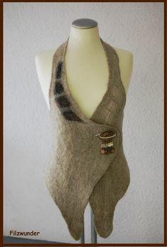 SOLD+Nuno+felted+vest++felt+vest++warm+natur+colour+by+Filzwunder