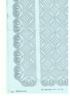 Punta y entredós para chal Bobbin Lace Patterns, Crochet Patterns, Irish Crochet, Crochet Lace, Bobbin Lacemaking, Lace Art, Lace Jewelry, Needle Lace, Lace Making