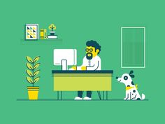 Super Cool Home Office Illustrations