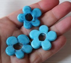Hey, I found this really awesome Etsy listing at https://www.etsy.com/listing/235242166/large-turkish-glass-flower-beads-x5