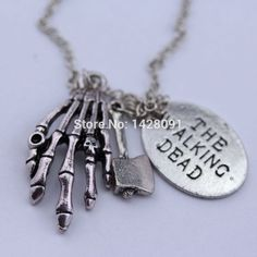 The Walking Dead Skeleton Hand Pendant Necklace