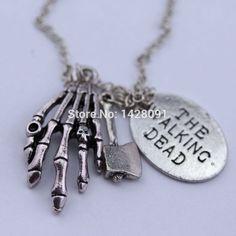 The Walking Dead Skeleton Hand Pendant Necklace