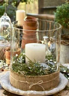 Burlap.. candles