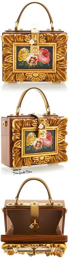 Dolce & Gabbana Fall 2015 Wood Framework Dolce Bag ♔THD♔