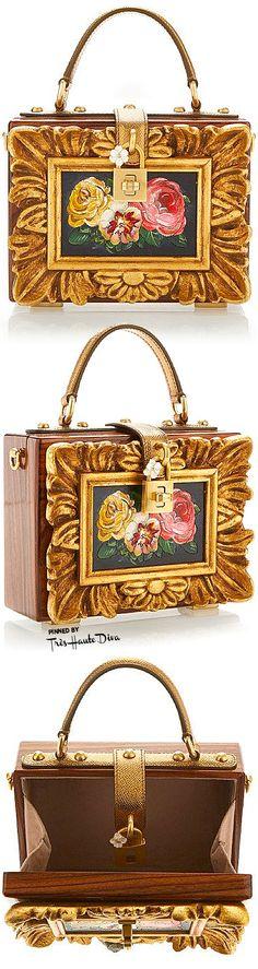 Dolce & Gabbana Fall 2015 Wood Framework Dolce Bag | House of Beccaria~