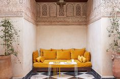 5 Beautiful Riads in Marrakech :: This Is Glamorous Architectural Digest, Moroccan Interiors, Amber Interiors, Moroccan Bedroom, Best Riads In Marrakech, Medina Marrakech, Interior Garden, Interior Design, Yurt Interior