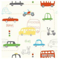 Transport Wallpaper at Children's Rooms