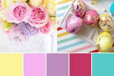 A Spring Wedding Palette - Easter Wedding Inspiration Pretty Spring Wedding ideas - the perfect pastel palette for a sunny Spring wedding, combining pink, lemon and lilac and introducing spring flowers like pansies and tulips Bridal Shower Questions, Bridal Shower Games, Bridal Shower Decorations, Bridal Showers, Summer Wedding Bouquets, Spring Wedding, Wedding Dresses, Newlywed Game Questions, Wedding Color Combinations
