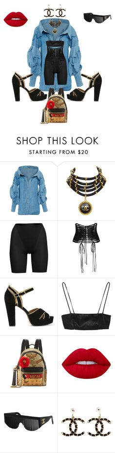 """""""Not a regular btch"""" by juliakee ❤ liked on Polyvore featuring Johanna Ortiz, Chanel, SPANX, Dolce&Gabbana, Sonia Rykiel, Yves Saint Laurent, MCM and Lime Crime"""