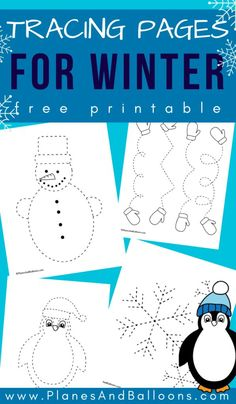 Free printable winter tracing worksheets for preschool - perfect fine motor activity for winter theme. Source by lifeovercs Ideas winter Free Preschool, Preschool Printables, Preschool Worksheets, Free Printables, Preschool Winter, January Preschool Themes, Winter Activities For Kids, Winter Crafts For Kids, Winter Thema