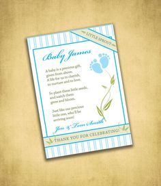 Baby Shower Favor Seed Packets available in by FrillyJillyDesign, $12.00