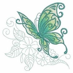 Sketched Butterfly 8 - 3 Sizes!   What's New   Machine Embroidery Designs   SWAKembroidery.com Ace Points Embroidery