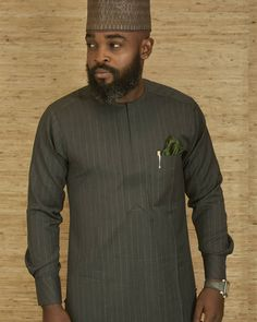 You can just as well buy fine clothes, but STYLE you must possess. African Wear Styles For Men, African Shirts For Men, African Dresses Men, African Attire For Men, African Clothing For Men, Nigerian Men Fashion, Indian Men Fashion, Fashion Fashion, Costume Africain