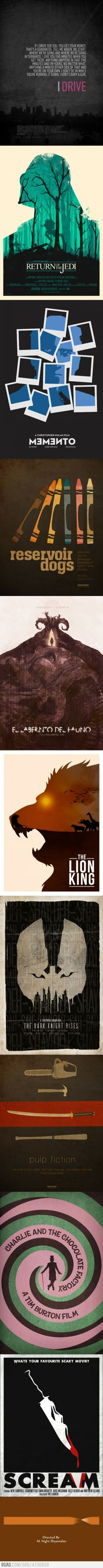 Awesome minimalistic movie posters