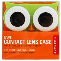 This little owl is guaranteed to keep an eye on your eyes. Can be used with hard or soft contacts.