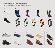 Fashion infographic : 57 Infographics that will make a Man Fashion Expert Armadura Darth Vader, Hugo Boss, Brown Socks, Fashion Infographic, Fashion Shoes, Mens Fashion, Fashion Check, Fashion Guide, Prada
