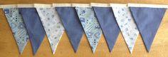Boys Baby Blue Fabric Bunting by MollyFelicityDesigns, £10.00