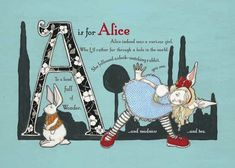 The Wonderland Alphabet - i'd totally out this in baby Alice's nursery!