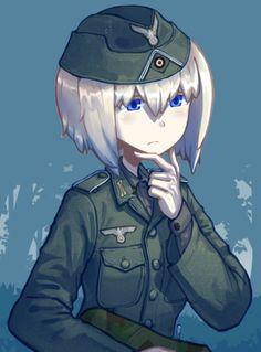 Anime Art Girl, Manga Art, Manga Anime, Anime Military, Military Girl, Comic Pictures, Manga Pictures, Military Archives, Guerra Anime