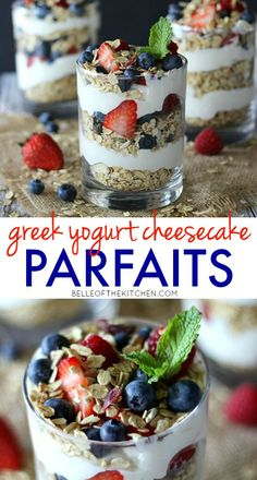 Greek Yogurt Cheesecake Parfaits