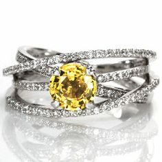 Design 1510 - Knox Jewelers - Minneapolis Minnesota - Sapphire Engagement Rings - Fireworks, Yellow Sapphire - Large Image