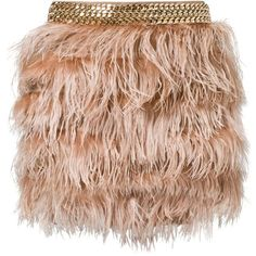 Elisabetta Franchi FEATHER SKIRT Mini skirt (515 AUD) ❤ liked on Polyvore featuring skirts, mini skirts, saias, bottoms, faldas, brown, women's dresses & skirts, brown skirt, short skirts and mini skirt