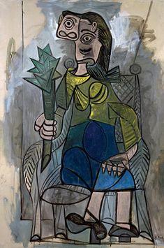 Pablo Picasso - La Femme à l'Artichaut (Woman with artichoke), 1941. Oil on Canvas.