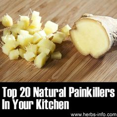 ❦ Just discovered a fantastic, fascinating list of natural painkillers that are common kitchen ingredients! What's interesting is that the list is not just a basic list – but also gives specific information as to the type of pain that researchers have found that these natural ingredients may assist with – and the way in which the food is used .❦