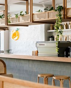 The humble morning coffee has never looked so good! A trip to Tasmania is filled with great design and the newest addition… Australian Interior Design, Interior Design Awards, Restaurant Interior Design, Commercial Interior Design, Commercial Interiors, Deco Restaurant, Modern Restaurant, Cat Ideas, Cafe Shop Design