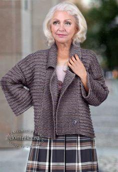 Knitting Designs, Knitting Patterns, Crochet Cardigan Pattern, Knit Jacket, Diy Clothing, Vintage Crochet, Cardigans For Women, Hand Knitting, Knitwear