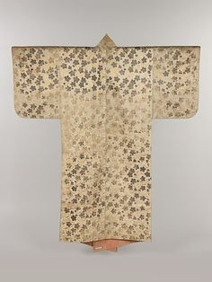 Noh Costume (Surihaku) with Chinese Bellflowers.  Period: Edo period (1615–1868). Date: 18th century. Culture: Japan. Medium: Gold and silver leaf on silk satin. Dimensions: Overall: 68 1/4 x 57 1/4 in. (173.4 x 145.4 cm).