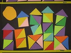 Paul Klee connection....perhaps a good lesson to work on gluing and cutting with Kinders...