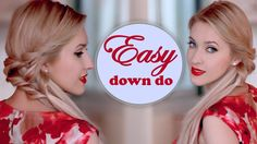 Easy everyday hairstyle for long hair tutorial