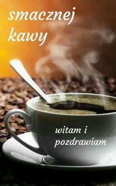 Dzień dobry☺ Morning Images, Good Morning, Mugs, Humor, Coffee, Tableware, Night, Good Day, Kaffee