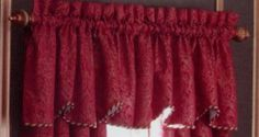 Lenox Waltz Scalloped Valance, Red by Lenox. $119.95. Rope cording. Dry clean only. 100-Percent polyester. Coordinates with waltz bedding. Coordinates with Drape. A Regal Red base is accented with soft gold details to create this finely crafted jacquard bed. Dimension is created with the ottoman weave coordinate and metallic embroidered accessories.