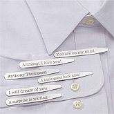 Valentine's Day Gift Ideas: Personalized Dress Shirt Collar Stays - Secret Message