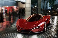En detalle,el ferrari diseñado por el finalista del Ferrari world design contest