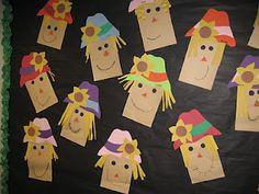 First Grade Thanksgiving Crafts Fall Crafts For Kids, Thanksgiving Crafts, Holiday Crafts, Art For Kids, Kids Diy, Fall Art Projects, School Art Projects, Craft Projects, Scarecrow Crafts