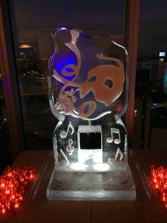 Phantom of the Opera ice luge for a corporate holiday event. #iceluges