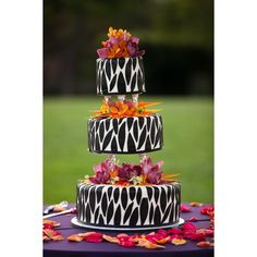 African Safari Wedding Cake found on Polyvore