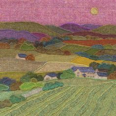 Jane Jackson - Harris Tweed Textile Art, Prints and Greetings Cards Jane Jackson, Wool Quilts, Mini Quilts, Creative Textiles, Flower Quilts, Landscape Quilts, Collaborative Art, Fabric Art, Fabric Crafts